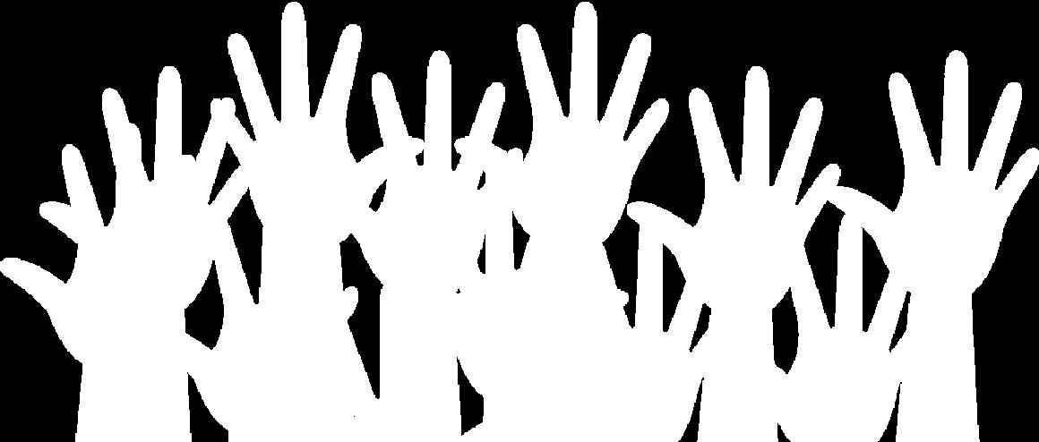 Hände jubeln