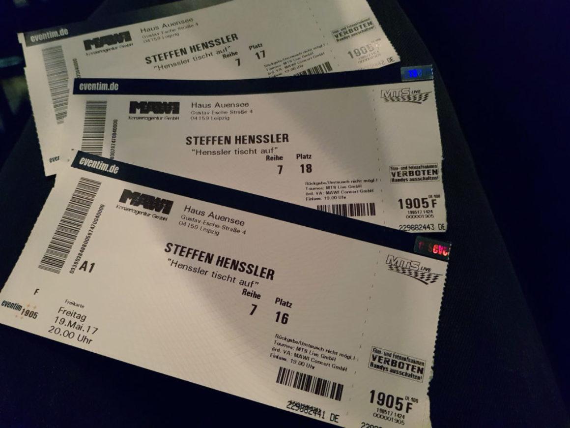 Henssler Eintrittskarten 2017