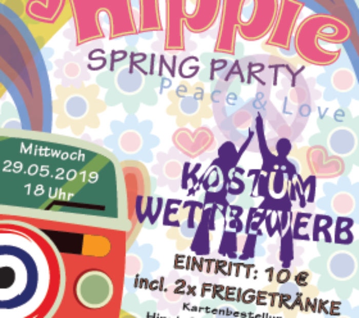 HippieParty Plakat 2019