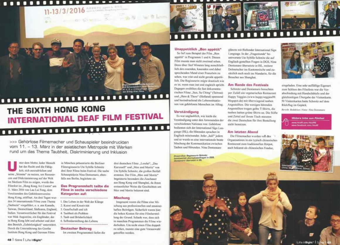 Life In Sight - Hong Kong Deaf Film Festival