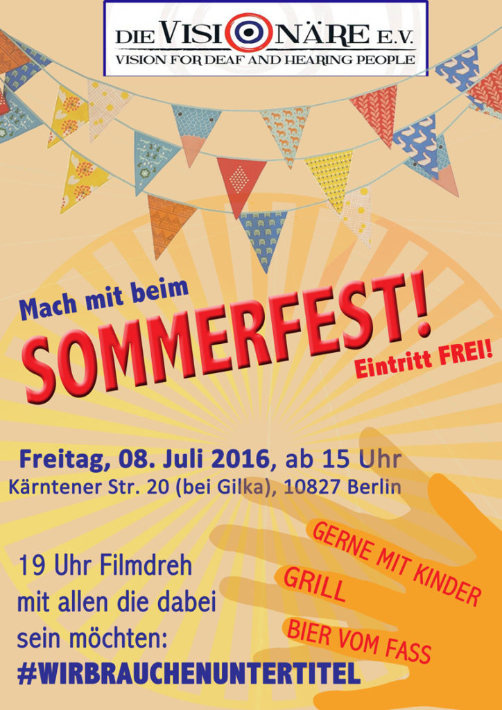 Sommerfest Location Plakat2016