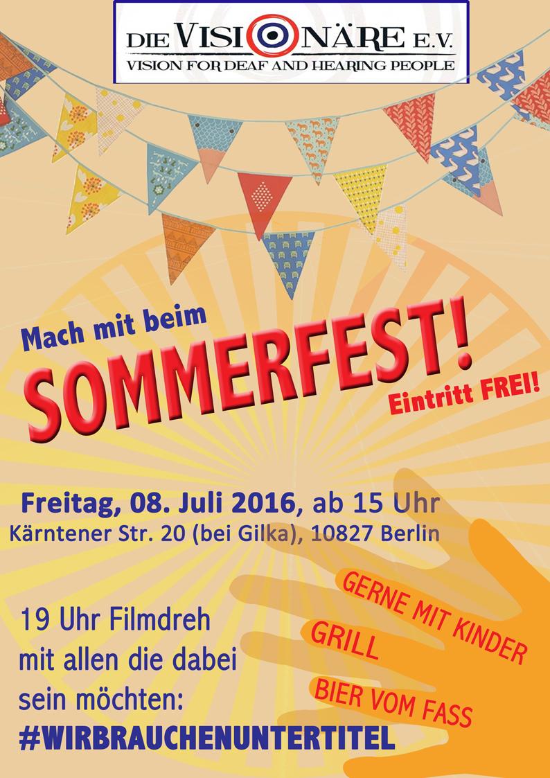 Sommerfest Location Plakat2016