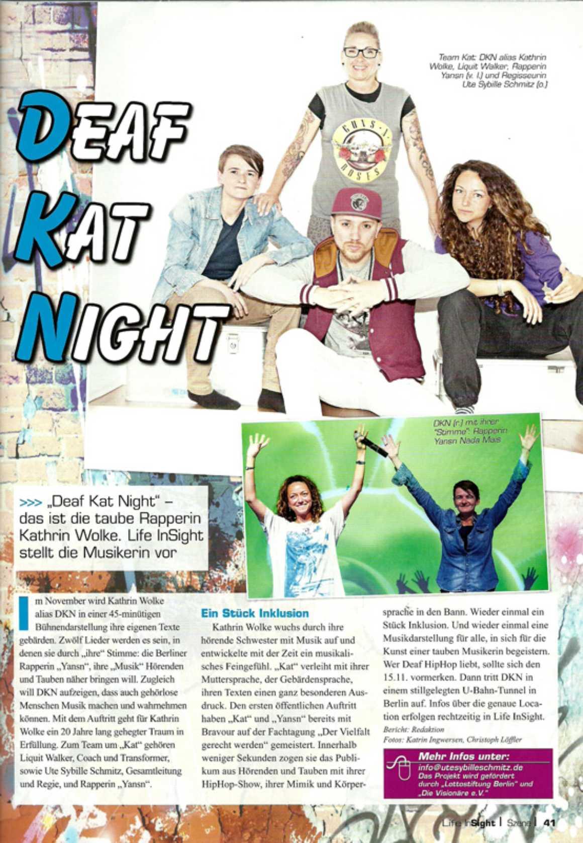 Life In Sight - Deaf Kat Night