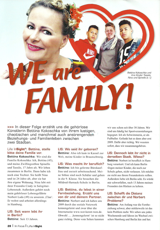 Life In Sight - We are family - Bettina Kokoschka