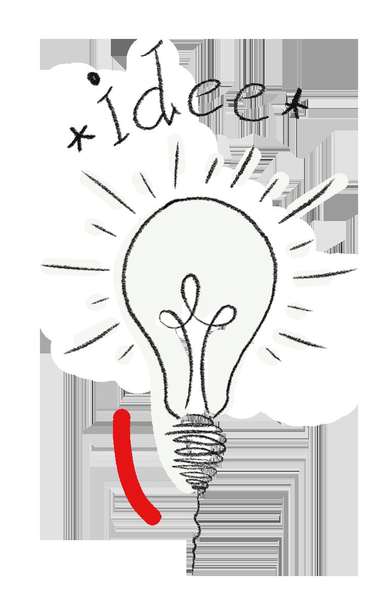 Glühbirne für Ideen